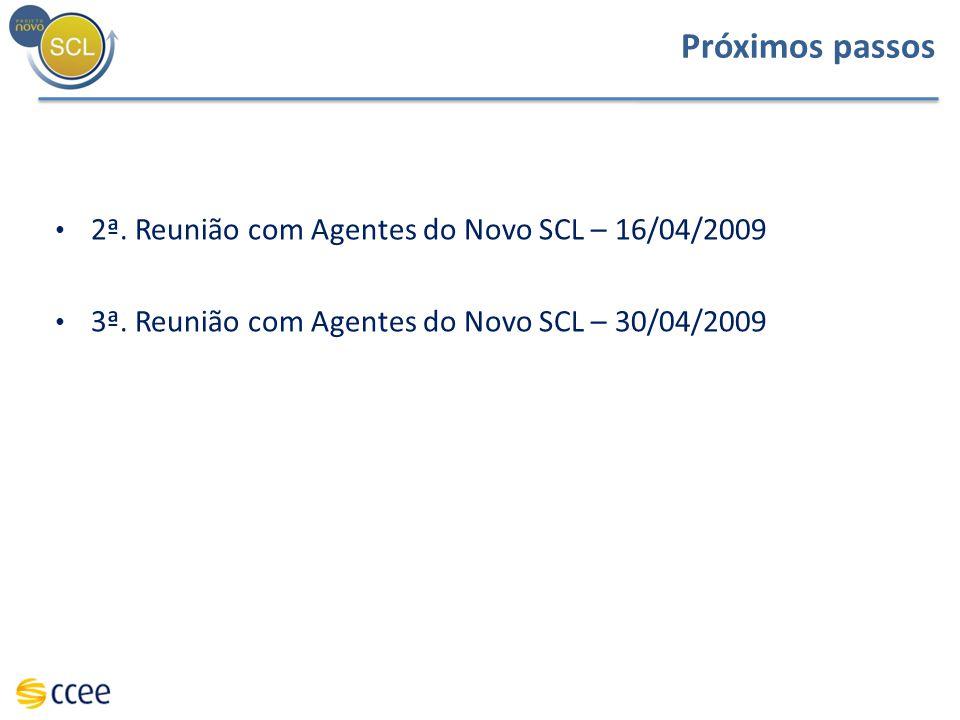 Próximos passos 2ª. Reunião com Agentes do Novo SCL – 16/04/2009