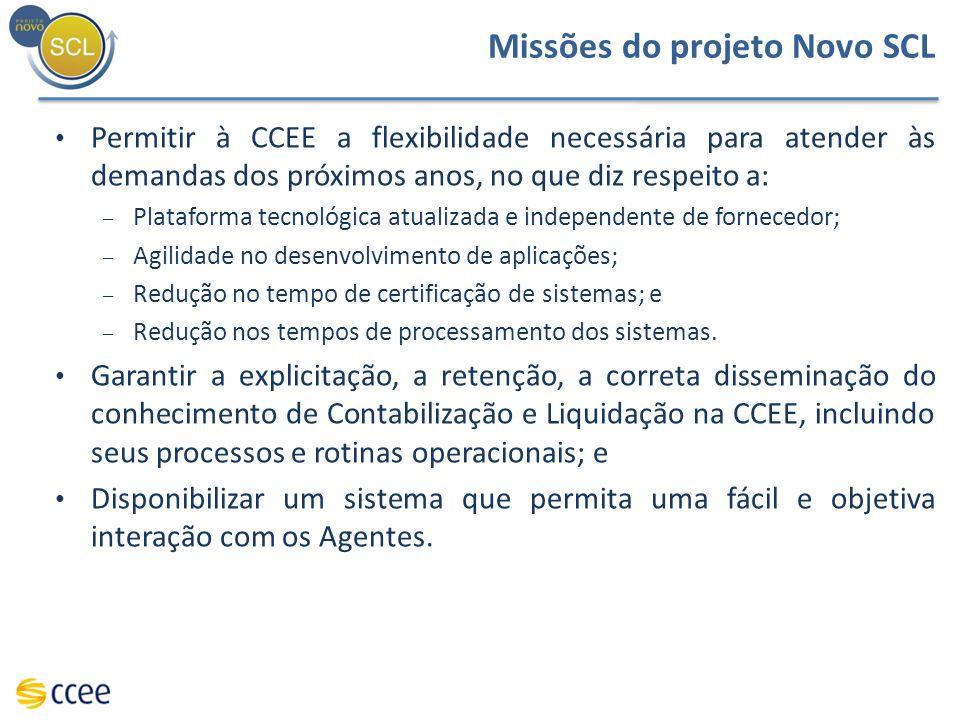 Missões do projeto Novo SCL
