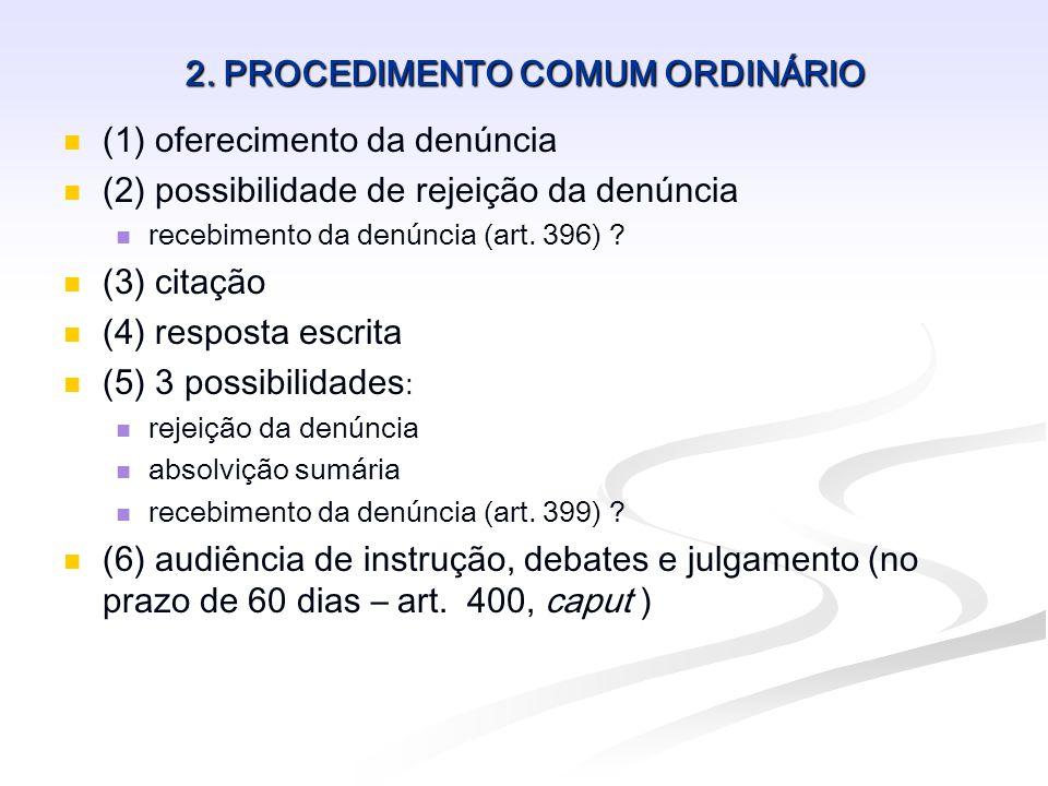 2. PROCEDIMENTO COMUM ORDINÁRIO