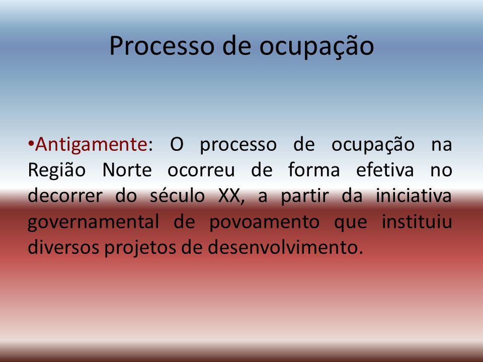 Processo de ocupação
