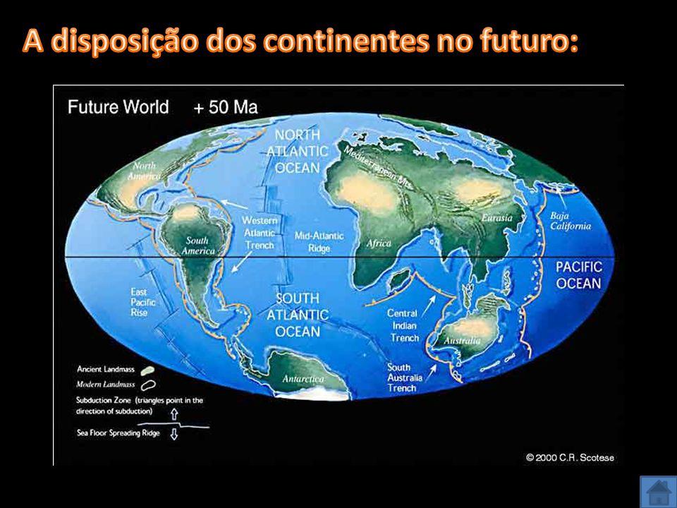 A disposição dos continentes no futuro: