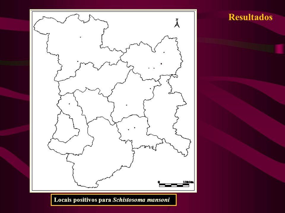 Resultados Locais positivos para Schistosoma mansoni