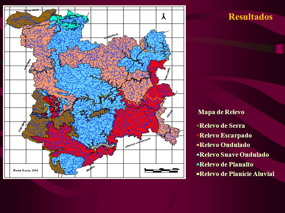 Resultados Mapa de Relevo Relevo de Serra Relevo Escarpado