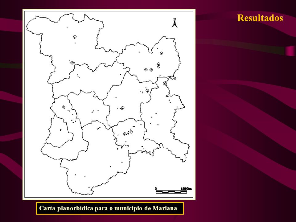 Resultados Carta planorbídica para o município de Mariana