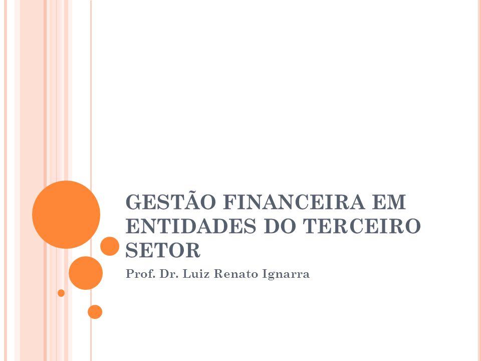 GESTÃO FINANCEIRA EM ENTIDADES DO TERCEIRO SETOR