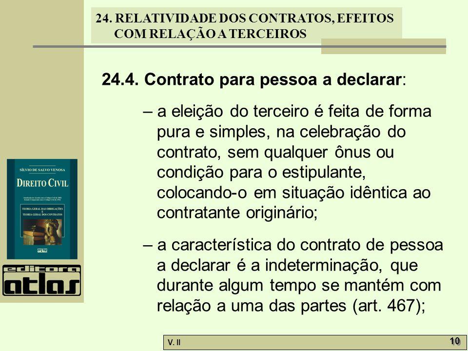 24.4. Contrato para pessoa a declarar: