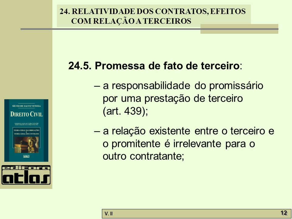 24.5. Promessa de fato de terceiro:
