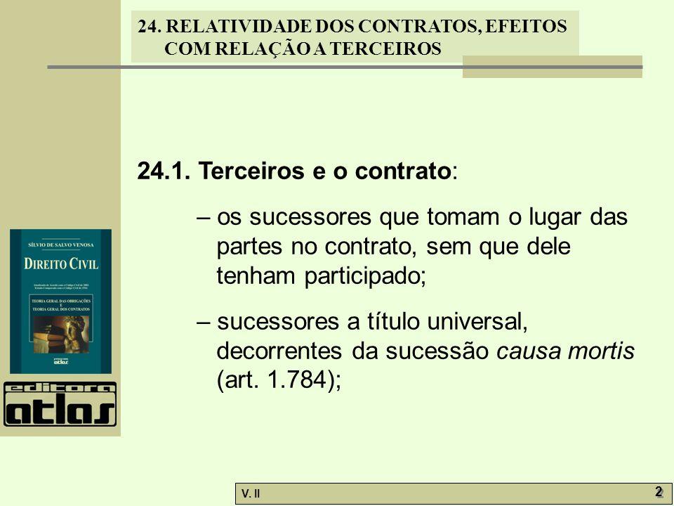 24.1. Terceiros e o contrato: