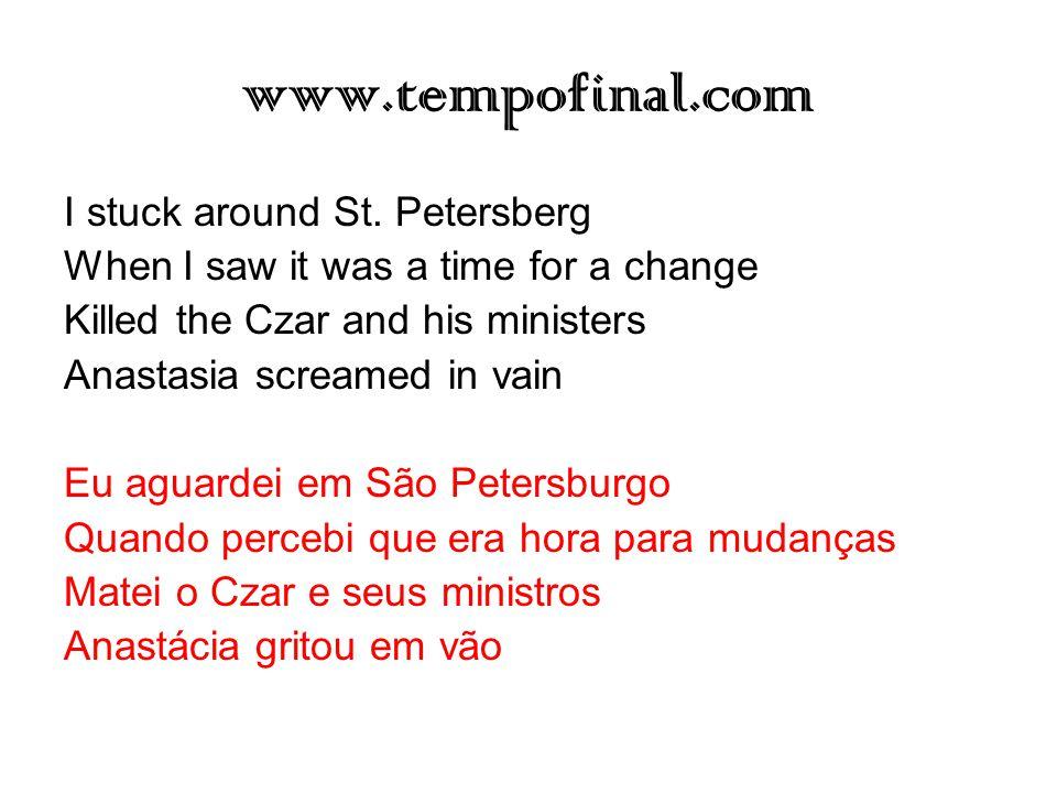 www.tempofinal.com I stuck around St. Petersberg