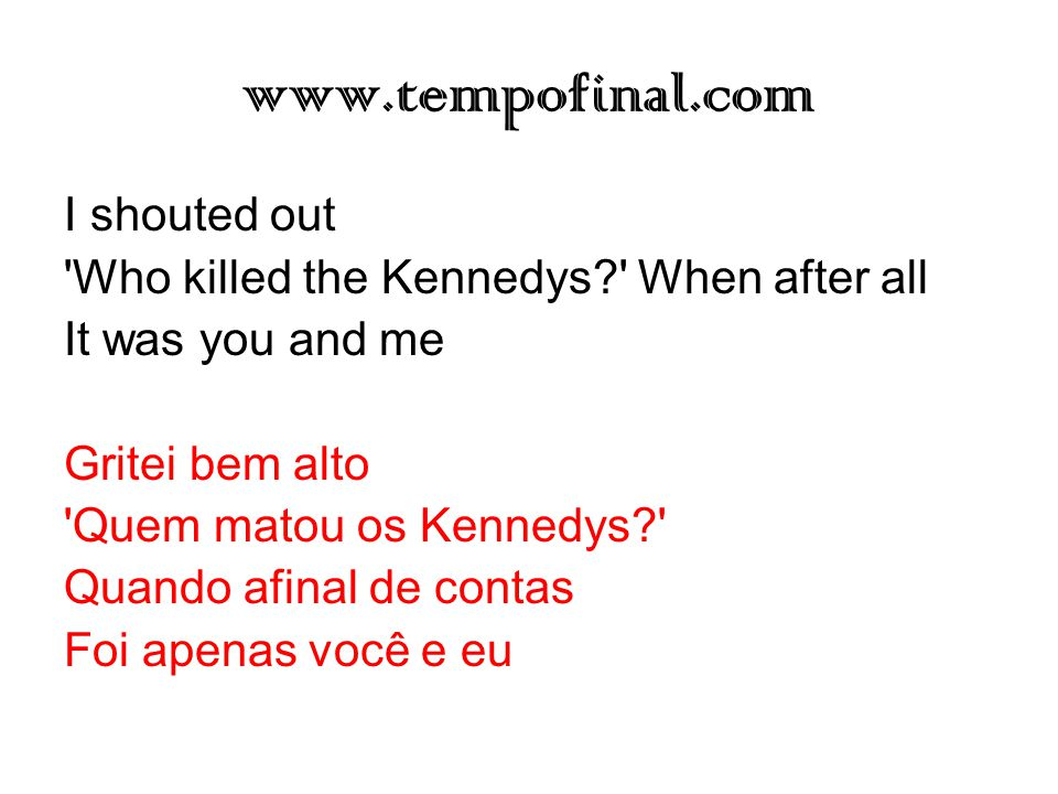 www.tempofinal.com I shouted out