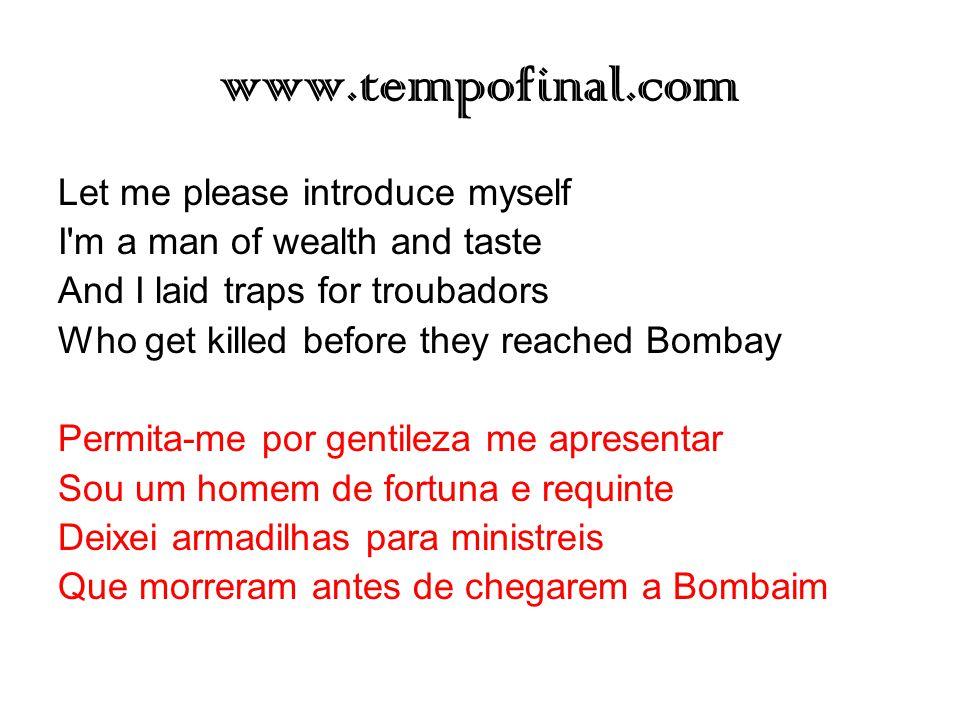 www.tempofinal.com Let me please introduce myself