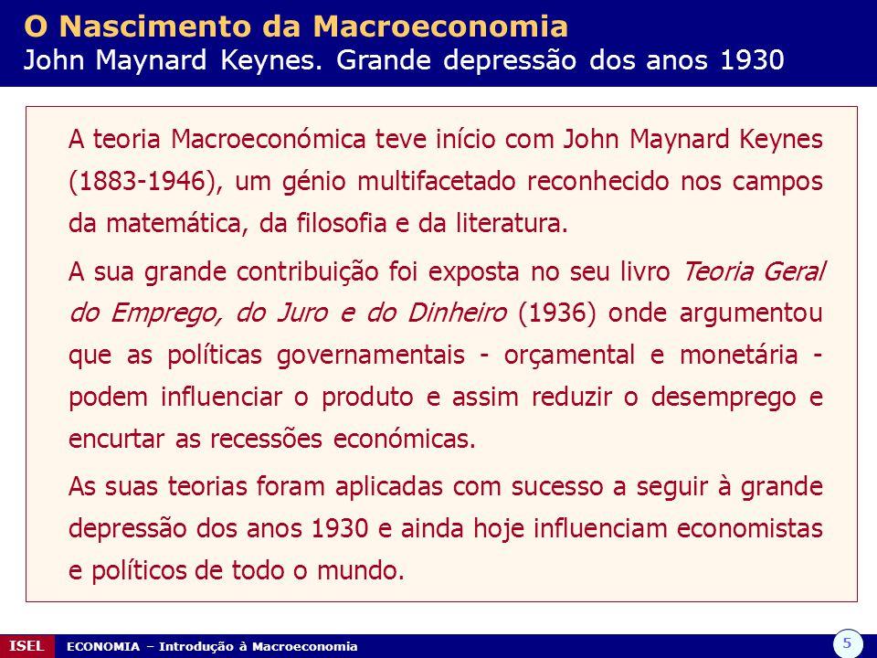 O Nascimento da Macroeconomia John Maynard Keynes