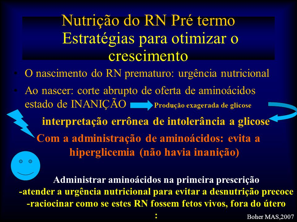 Nutrição do RN Pré termo Estratégias para otimizar o crescimento