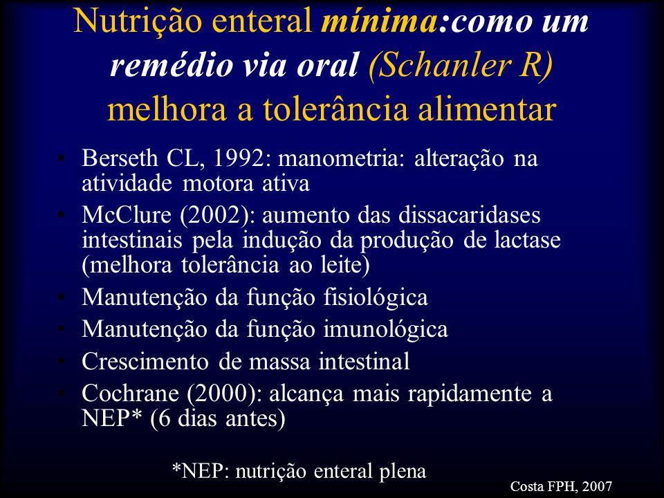 *NEP: nutrição enteral plena