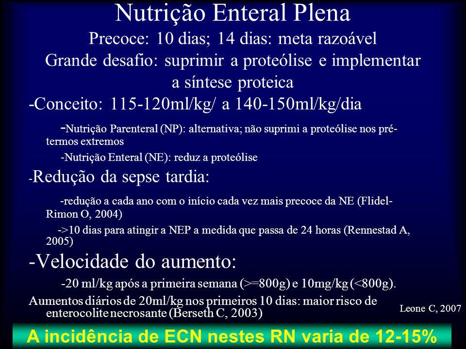 A incidência de ECN nestes RN varia de 12-15%