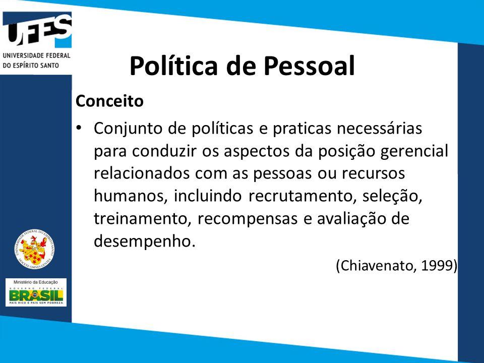 Política de Pessoal Conceito