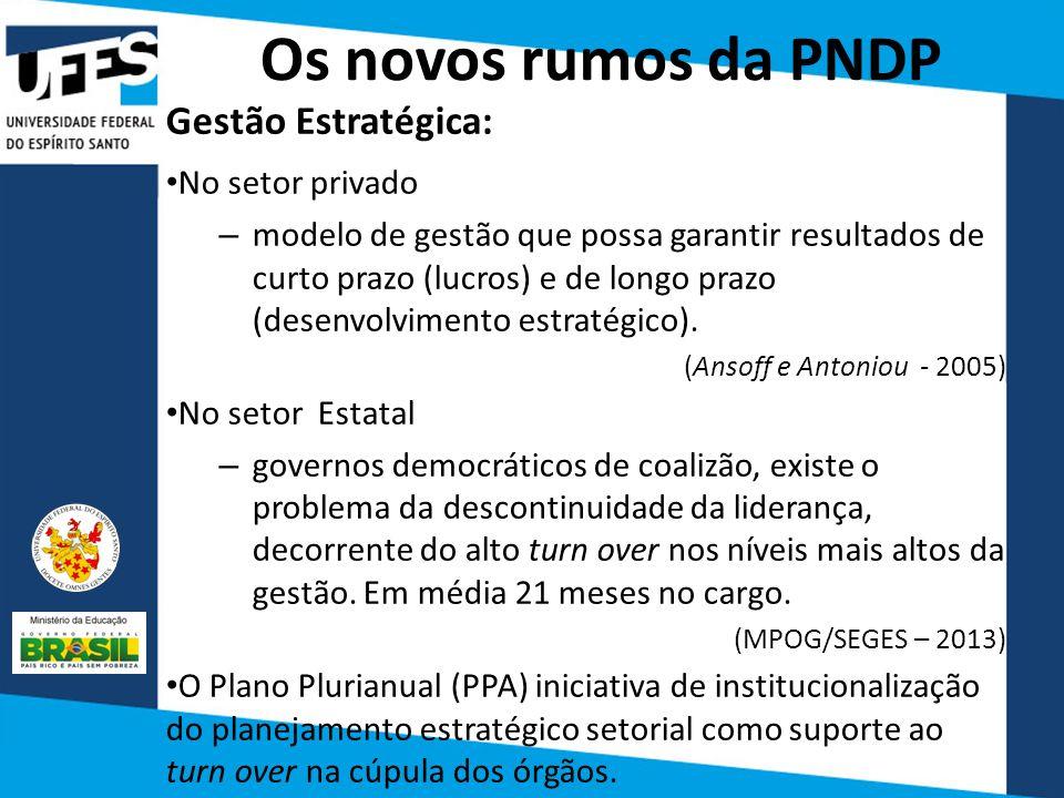 Os novos rumos da PNDP Gestão Estratégica: No setor privado