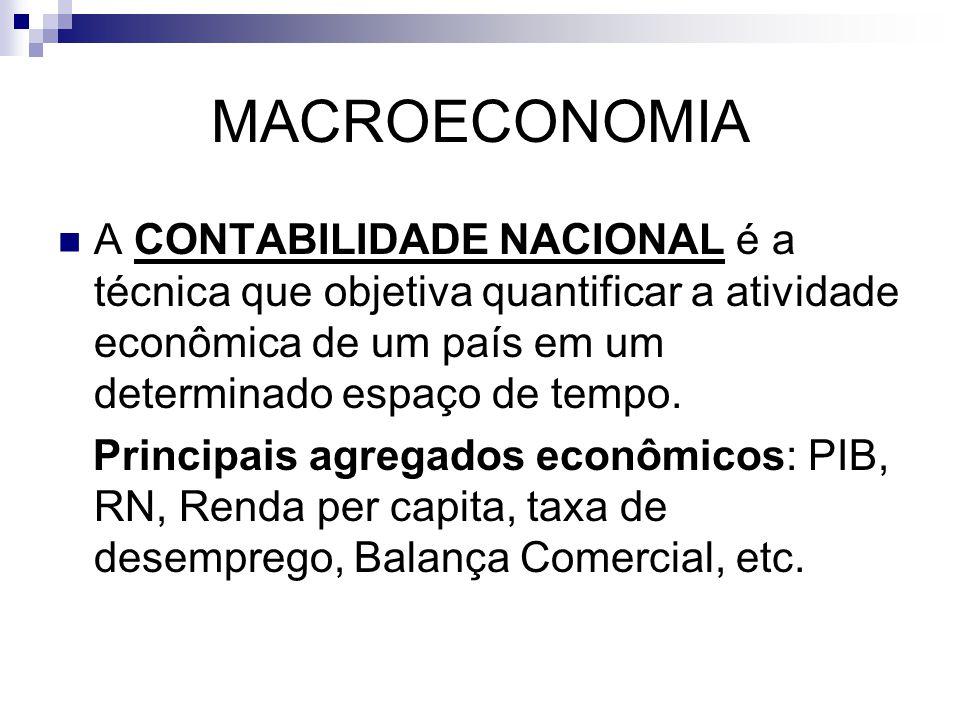 MACROECONOMIA A CONTABILIDADE NACIONAL é a técnica que objetiva quantificar a atividade econômica de um país em um determinado espaço de tempo.