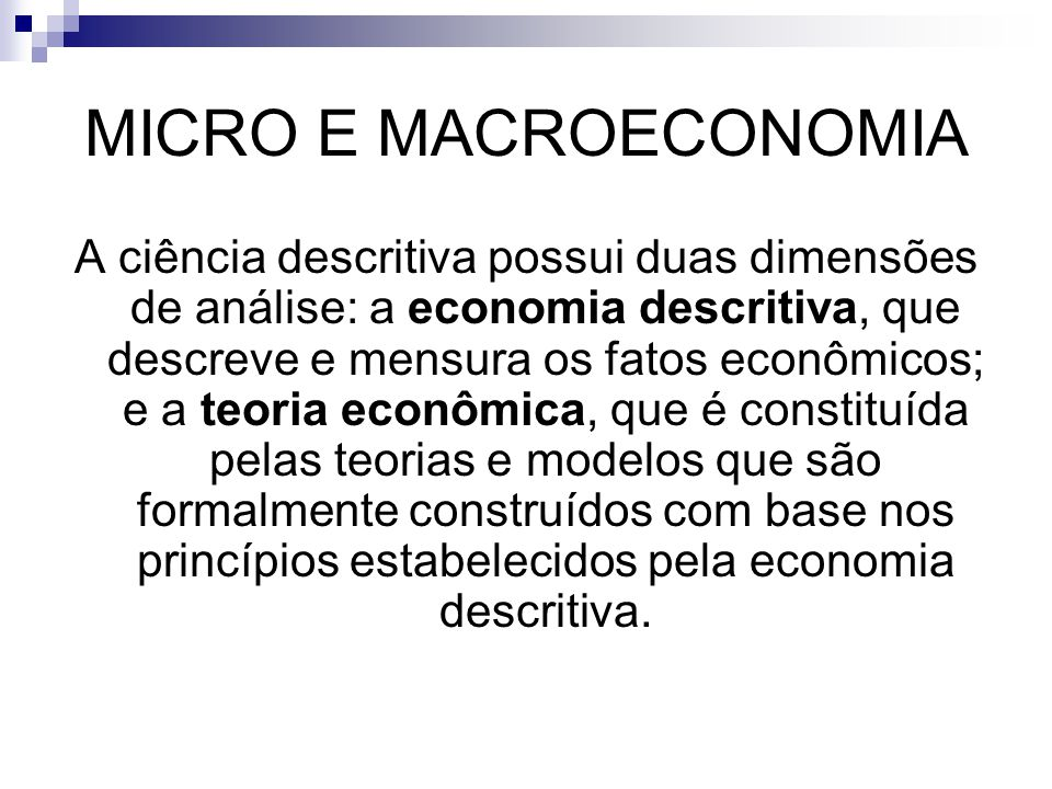 MICRO E MACROECONOMIA