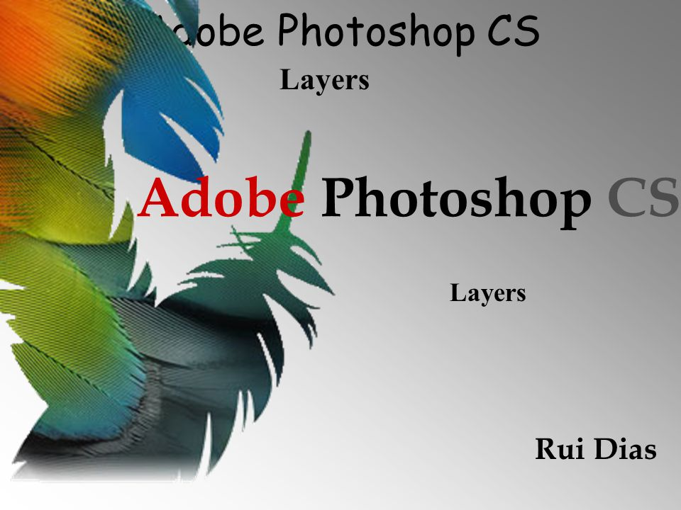 Adobe Photoshop CS Layers Rui Dias