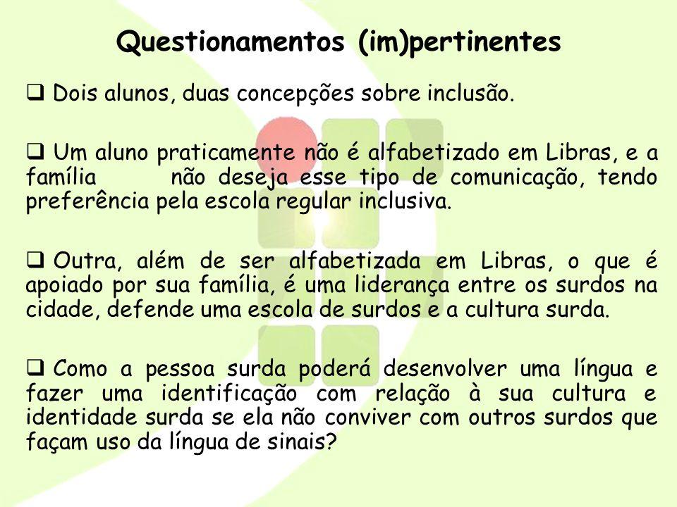 Questionamentos (im)pertinentes