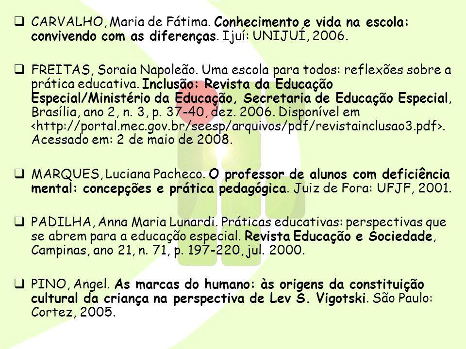 CARVALHO, Maria de Fátima