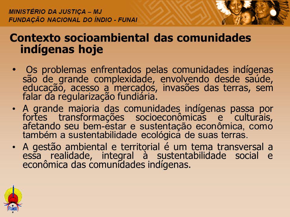 Contexto socioambiental das comunidades indígenas hoje
