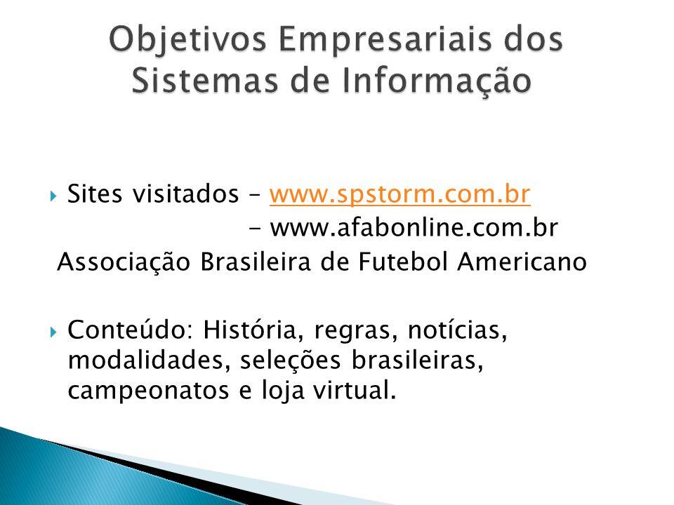 Objetivos Empresariais dos Sistemas de Informação