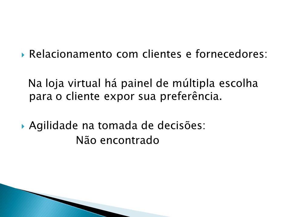 Relacionamento com clientes e fornecedores: