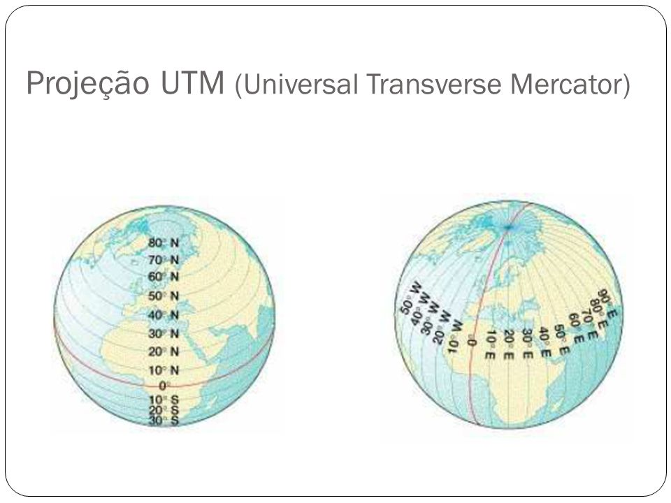 Projeção UTM (Universal Transverse Mercator)