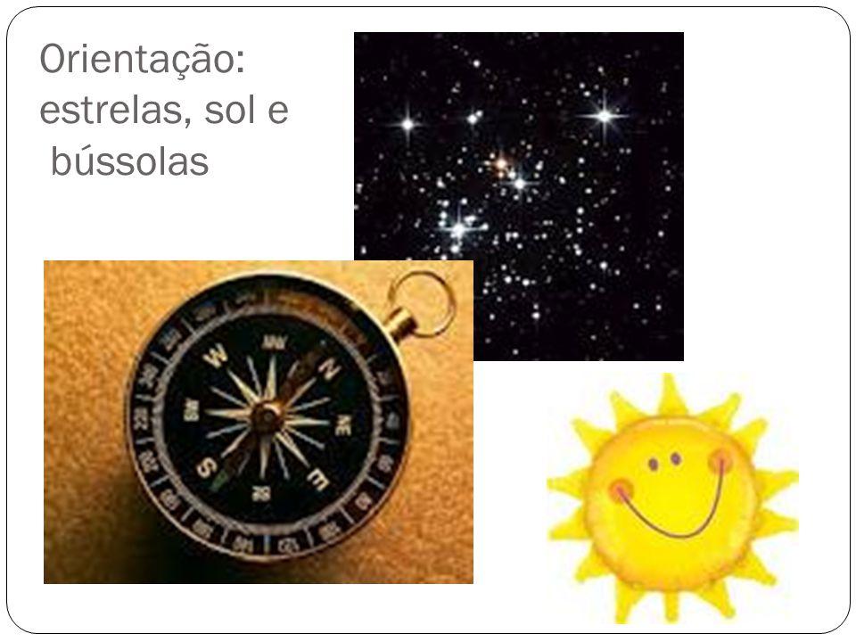 Orientação: estrelas, sol e bússolas