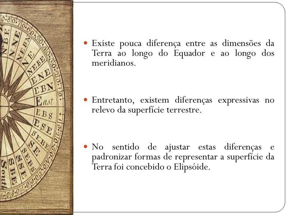 Existe pouca diferença entre as dimensões da Terra ao longo do Equador e ao longo dos meridianos.