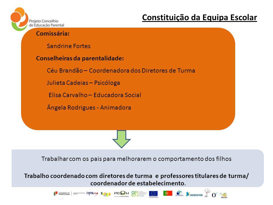 Constituição da Equipa Escolar