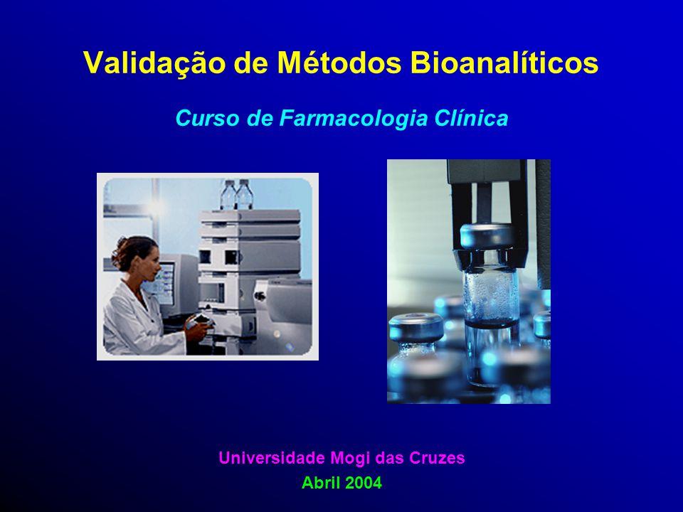 Validação de Métodos Bioanalíticos Curso de Farmacologia Clínica