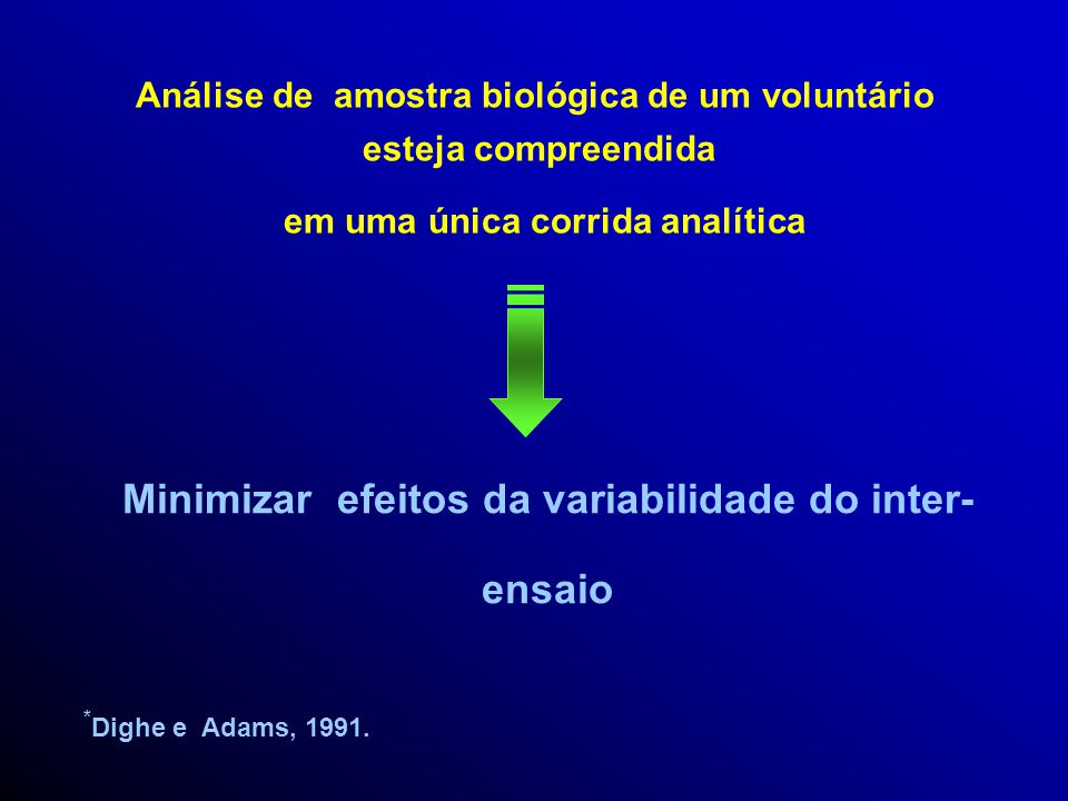 Minimizar efeitos da variabilidade do inter-ensaio