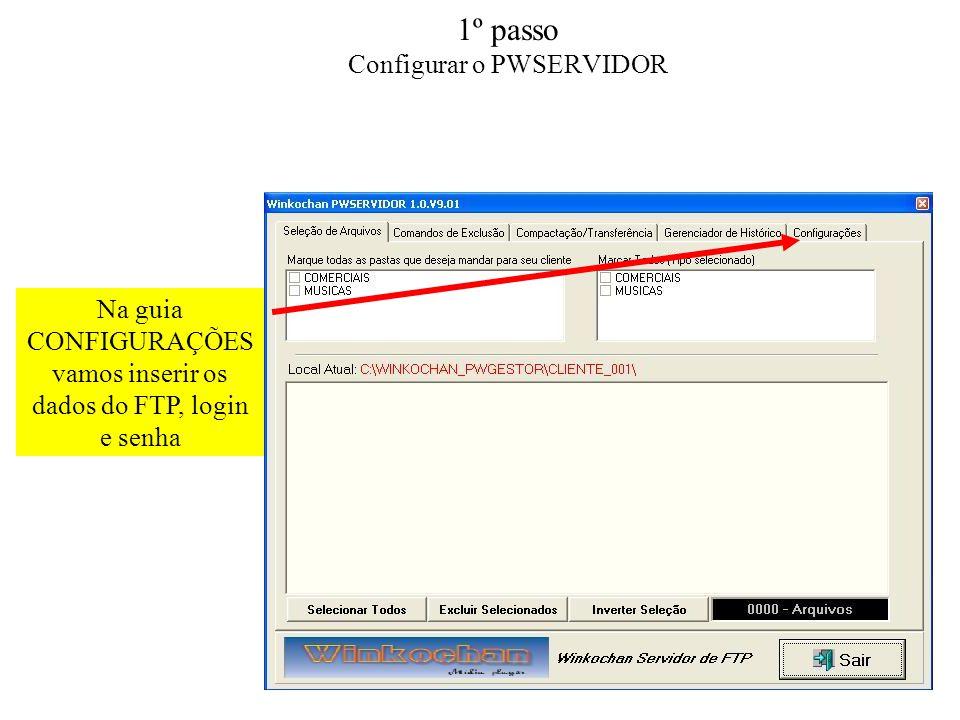 1º passo Configurar o PWSERVIDOR