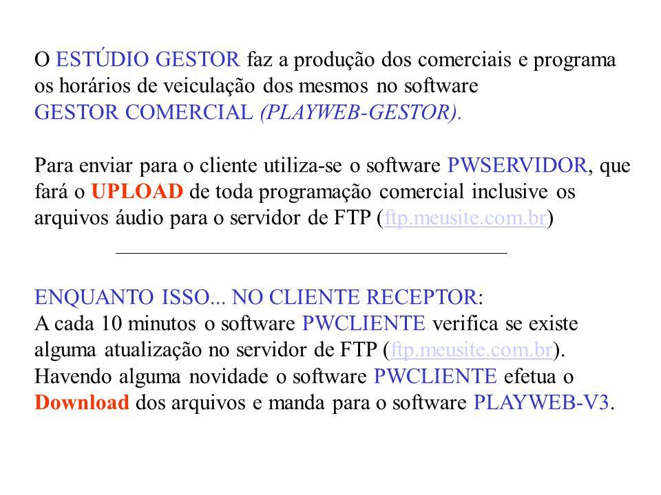 O ESTÚDIO GESTOR faz a produção dos comerciais e programa