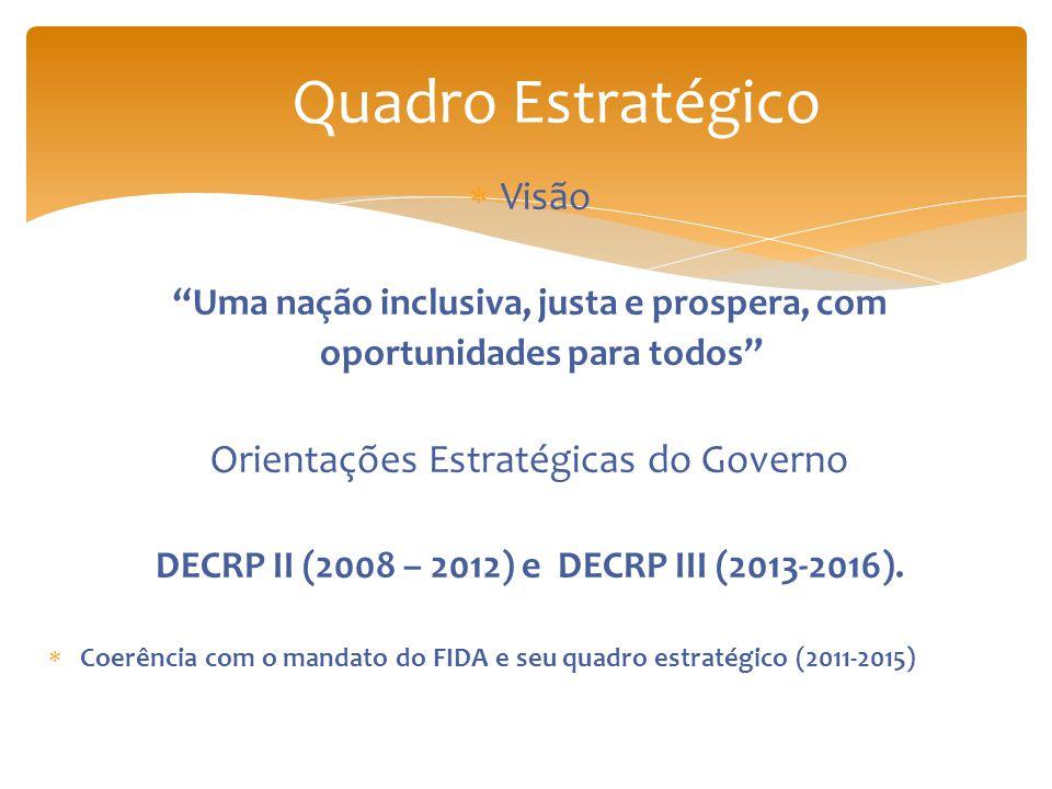 Quadro Estratégico Visão Orientações Estratégicas do Governo