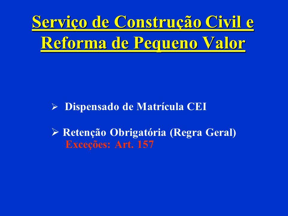 Serviço de Construção Civil e Reforma de Pequeno Valor