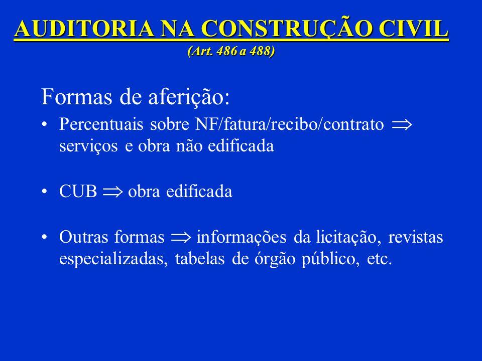 AUDITORIA NA CONSTRUÇÃO CIVIL (Art. 486 a 488)