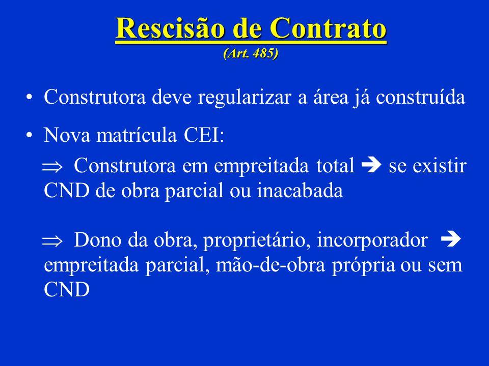 Rescisão de Contrato (Art. 485)