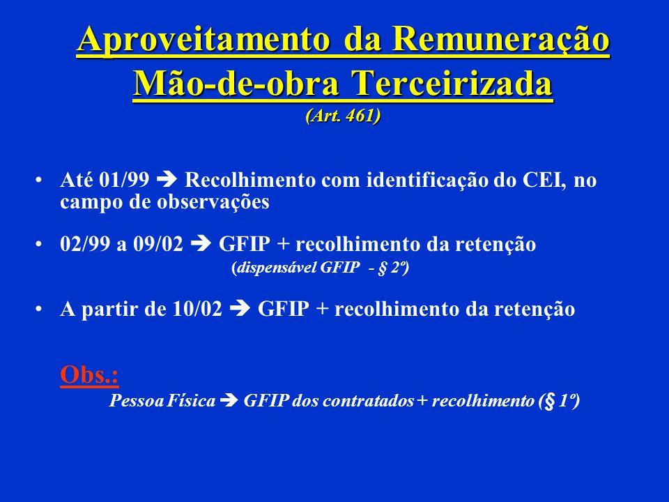 Aproveitamento da Remuneração Mão-de-obra Terceirizada (Art. 461)