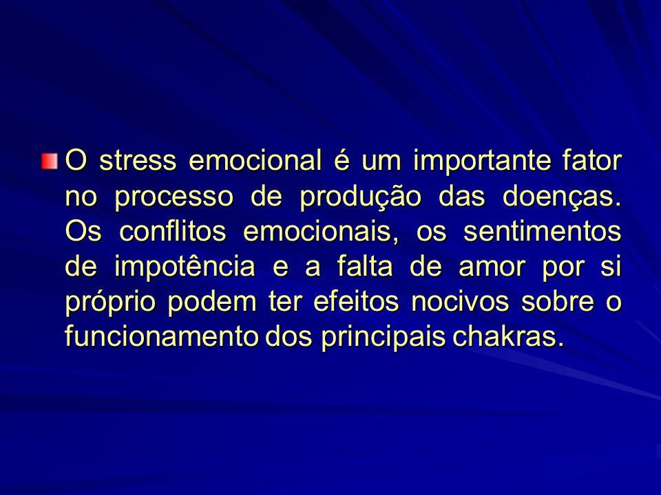 O stress emocional é um importante fator no processo de produção das doenças.