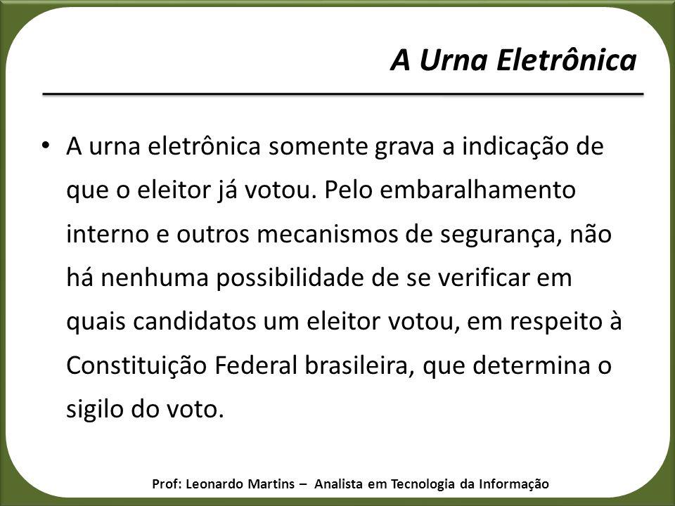 A Urna Eletrônica