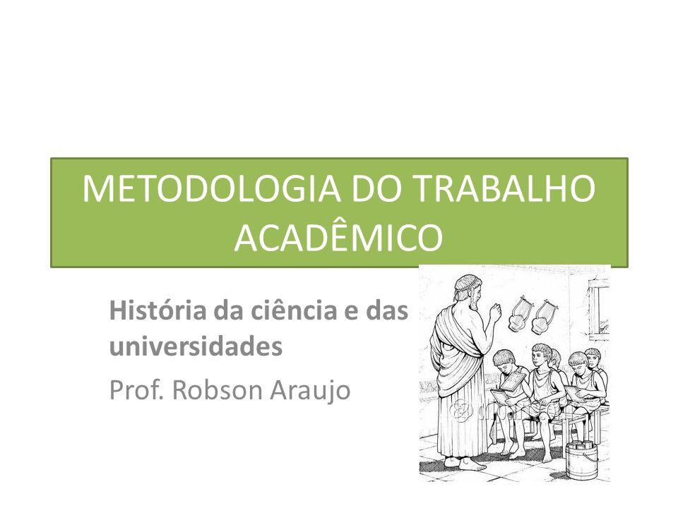 METODOLOGIA DO TRABALHO ACADÊMICO