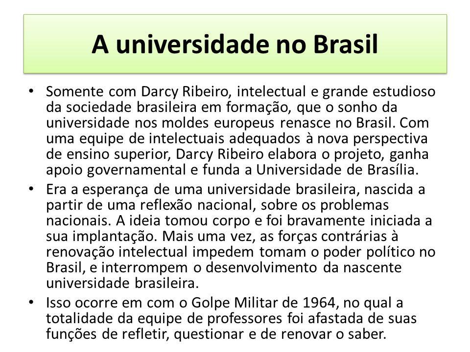 A universidade no Brasil