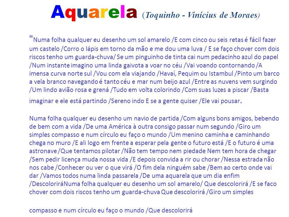 Aquarela (Toquinho - Vinícius de Moraes)