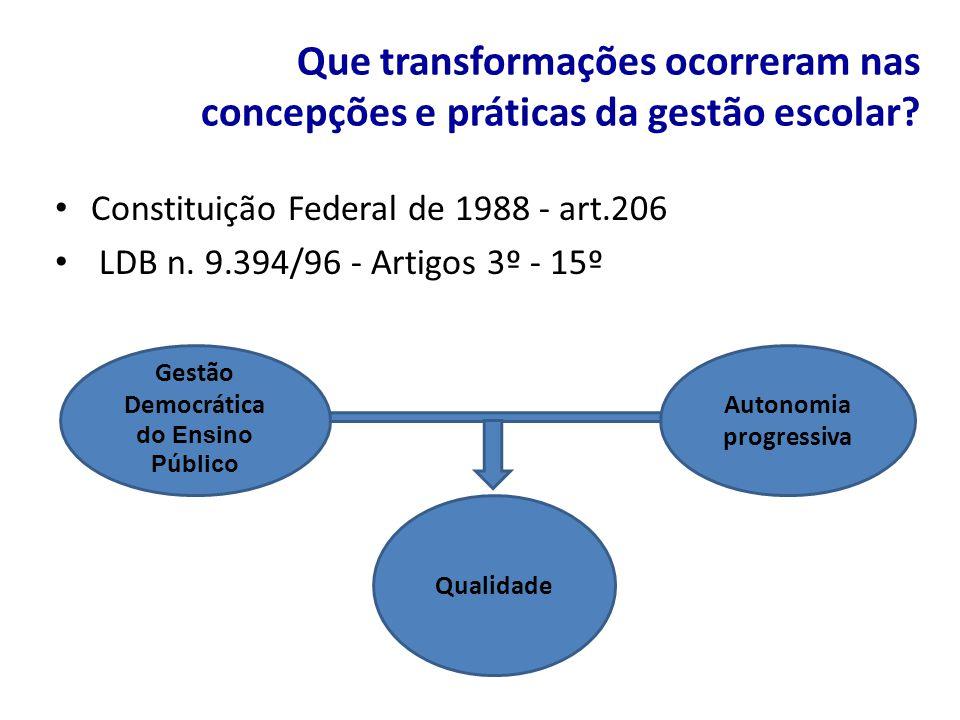 Democrática do Ensino Público Autonomia progressiva