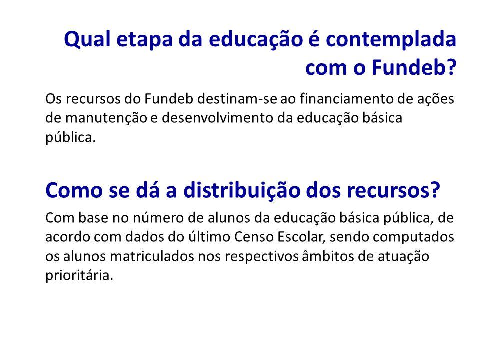 Qual etapa da educação é contemplada com o Fundeb
