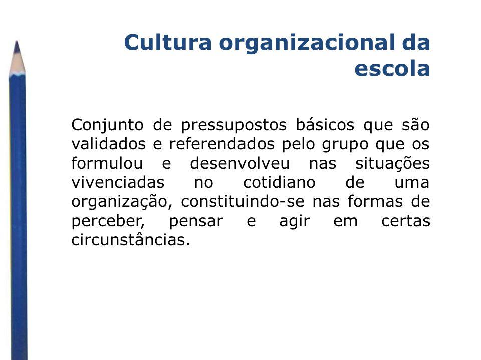 Cultura organizacional da escola
